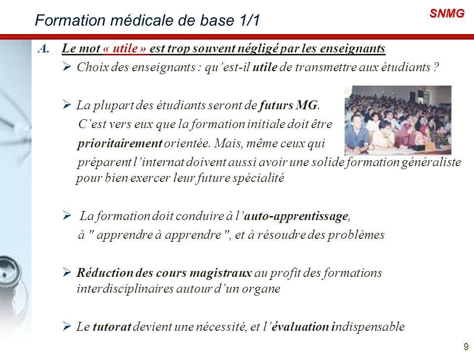 Formation médicale de base 1/1
