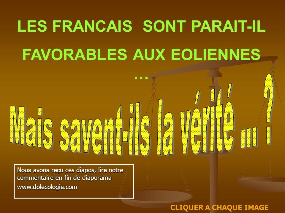 LES FRANCAIS SONT PARAIT-IL FAVORABLES AUX EOLIENNES …