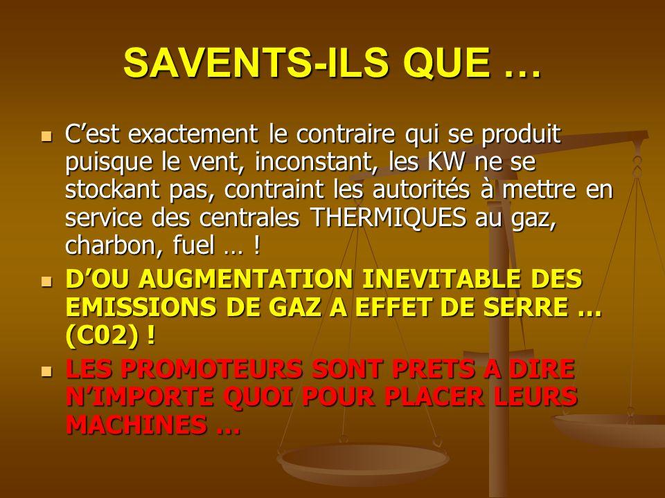 SAVENTS-ILS QUE …