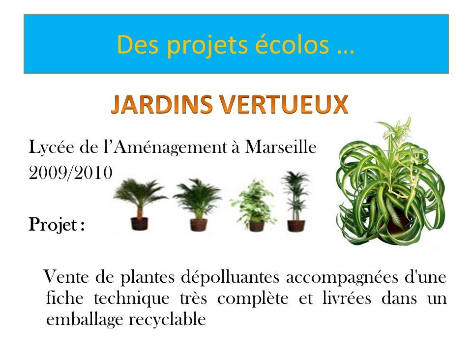 Des projets écolos … JARDINS VERTUEUX