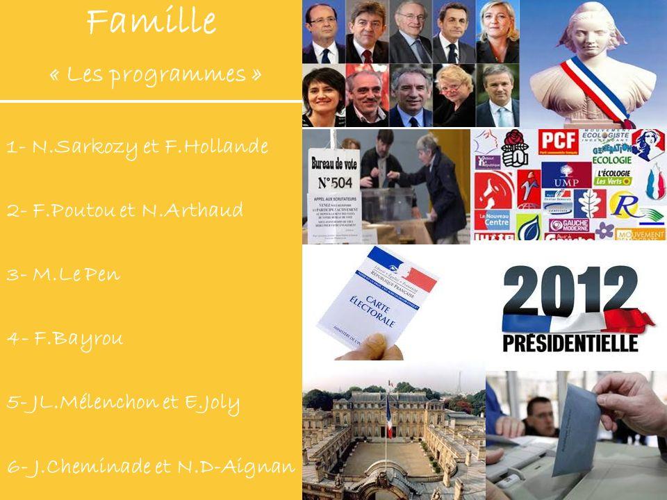 Famille « Les programmes »