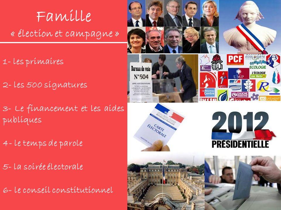 Famille « élection et campagne »