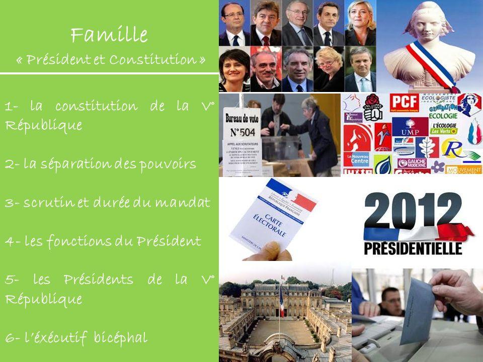 Famille « Président et Constitution »