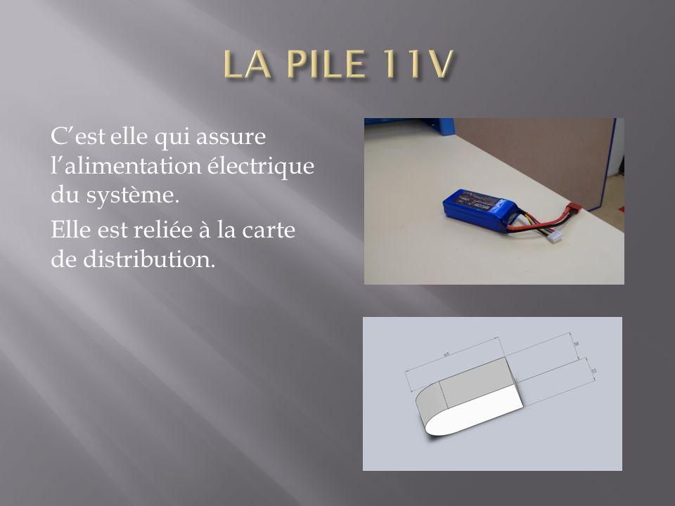 LA PILE 11V C'est elle qui assure l'alimentation électrique du système.