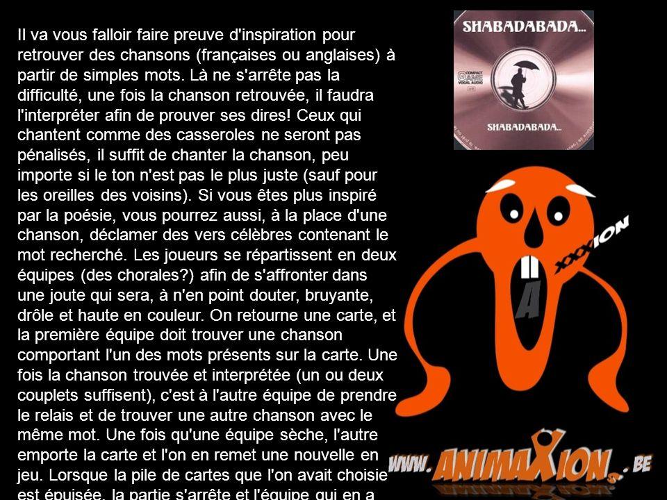 Il va vous falloir faire preuve d inspiration pour retrouver des chansons (françaises ou anglaises) à partir de simples mots.