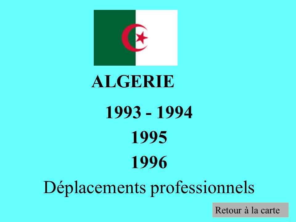 1993 - 1994 1995 1996 Déplacements professionnels