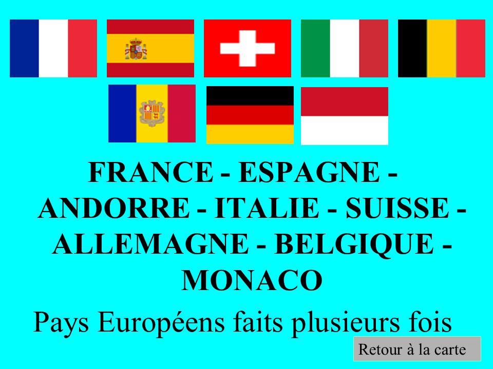 Pays Européens faits plusieurs fois