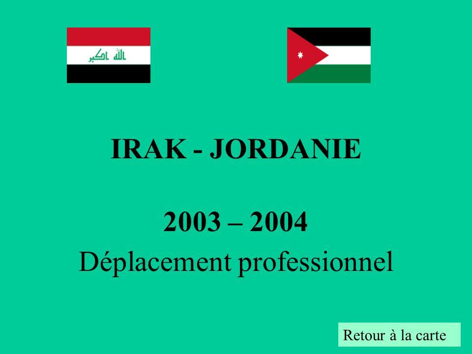 2003 – 2004 Déplacement professionnel
