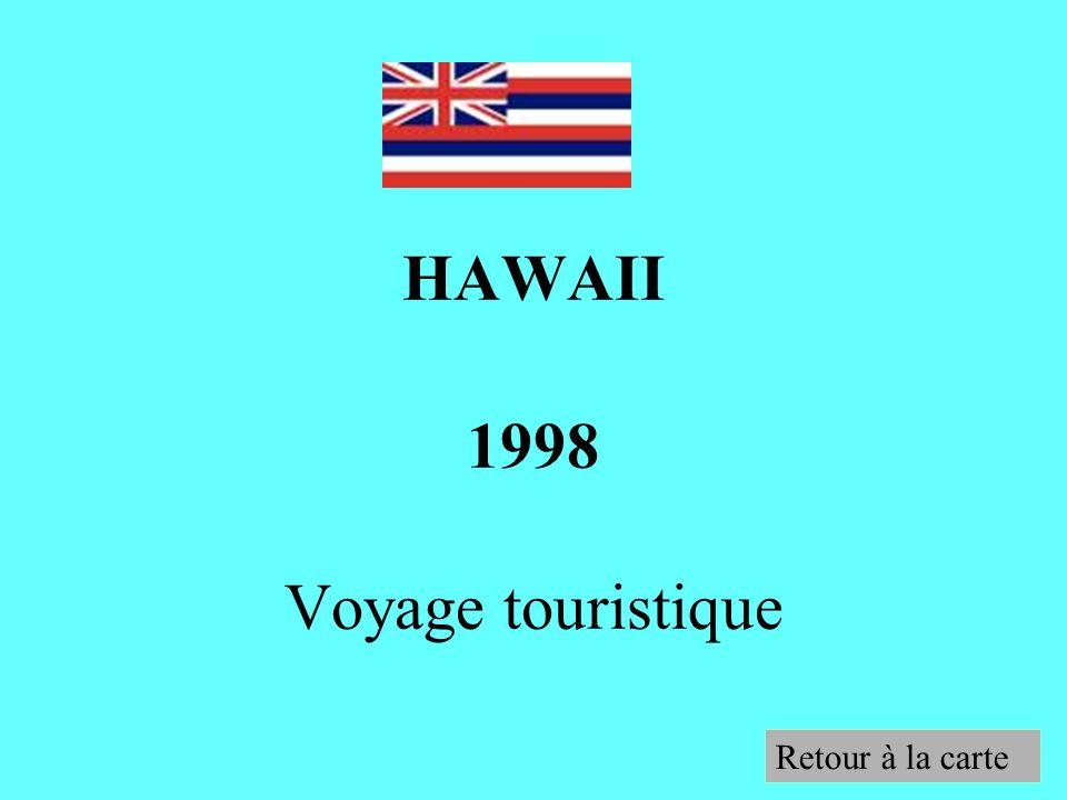 HAWAII 1998 Voyage touristique
