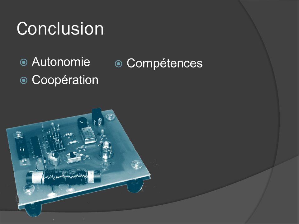 Conclusion Autonomie Compétences Coopération