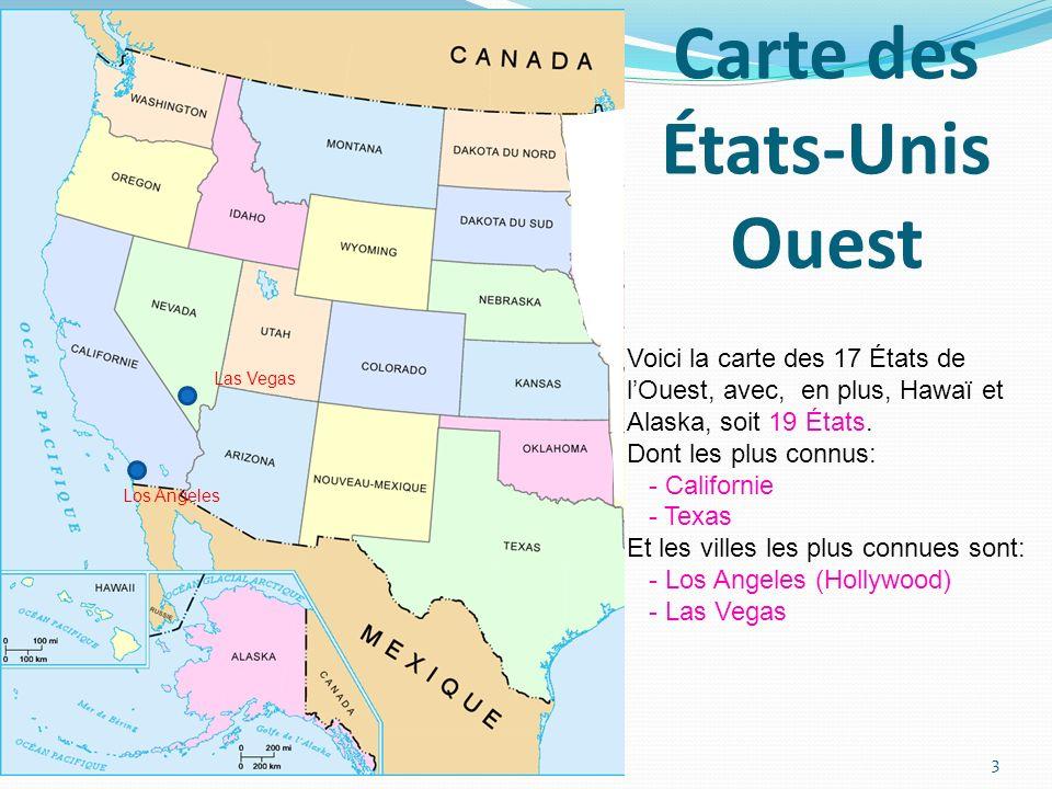Carte des États-Unis Ouest