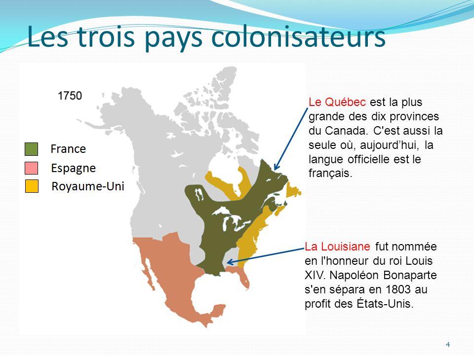 Les trois pays colonisateurs