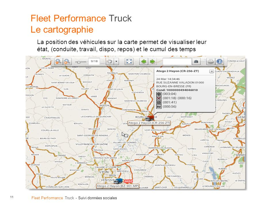Fleet Performance Truck Le cartographie