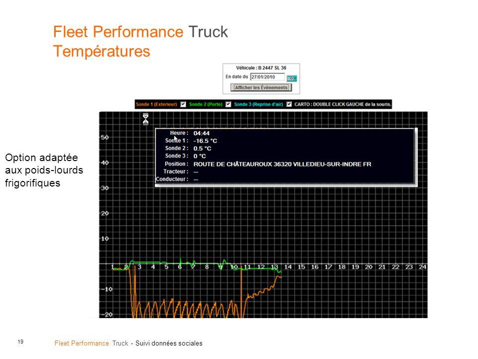 Fleet Performance Truck Températures
