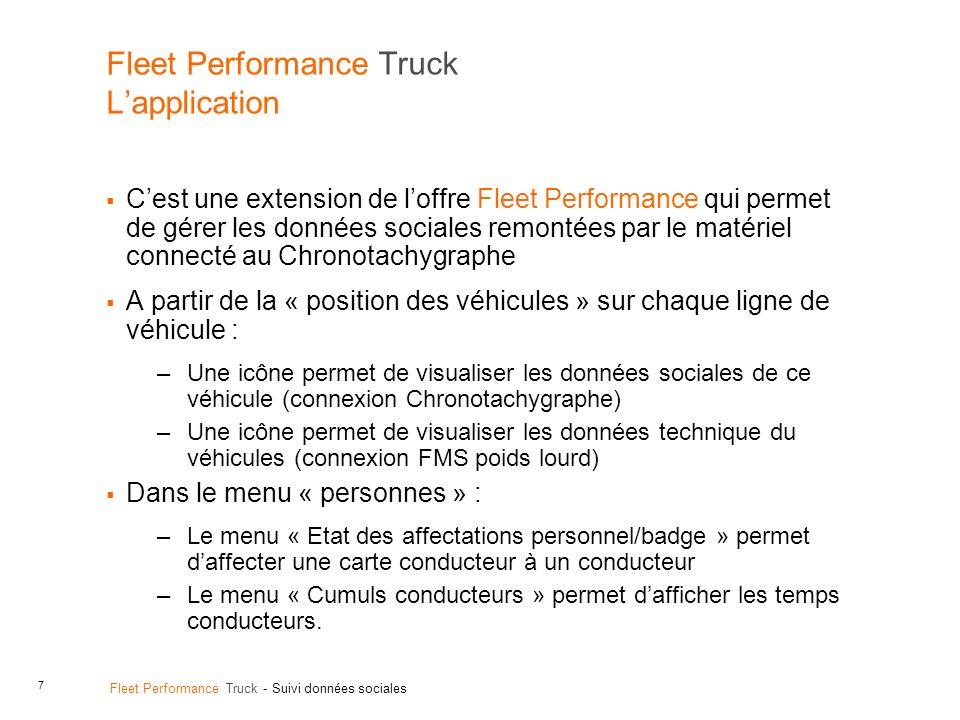 Fleet Performance Truck L'application
