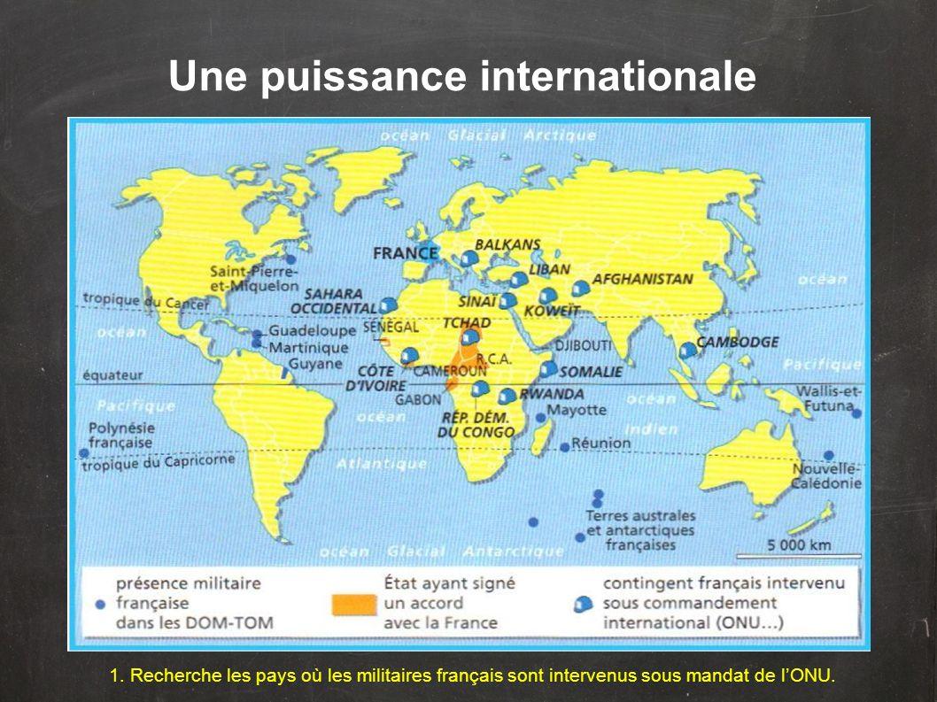 Une puissance internationale
