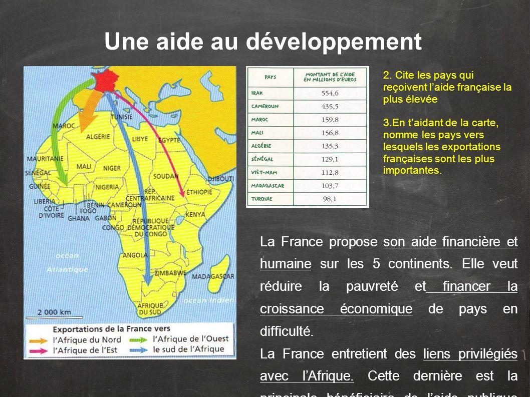Une aide au développement