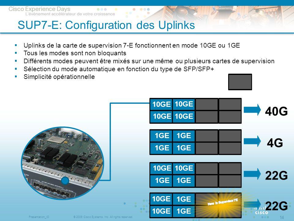 SUP7-E: Configuration des Uplinks