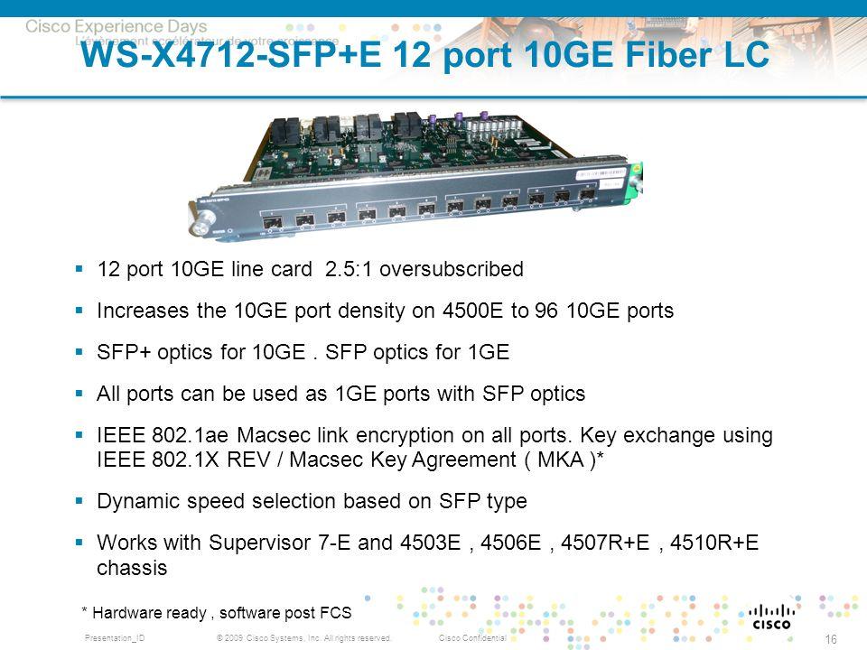 WS-X4712-SFP+E 12 port 10GE Fiber LC