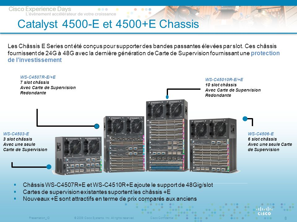 Catalyst 4500-E et 4500+E Chassis