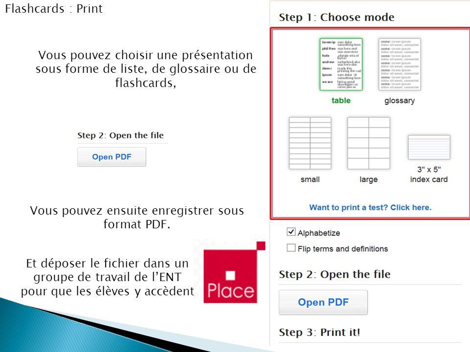 Vous pouvez ensuite enregistrer sous format PDF.