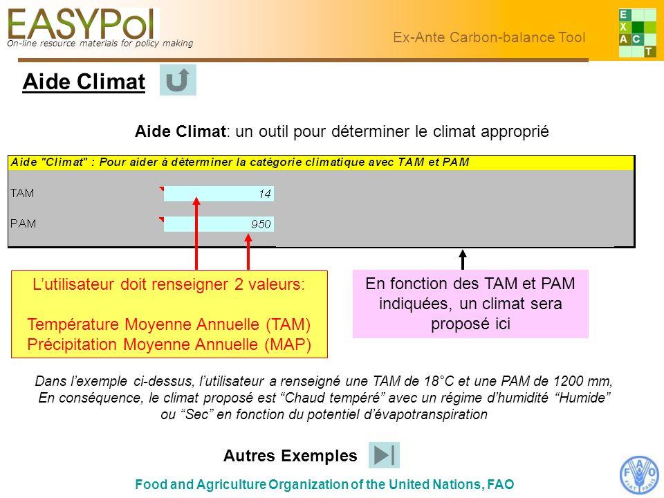 Aide Climat Aide Climat: un outil pour déterminer le climat approprié
