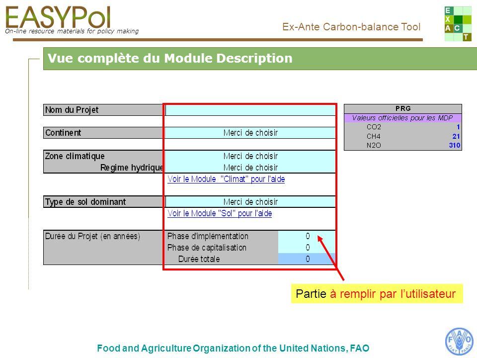 Vue complète du Module Description