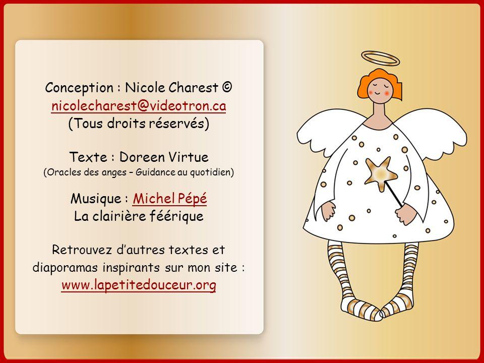 Texte : Doreen Virtue (Oracles des anges – Guidance au quotidien)
