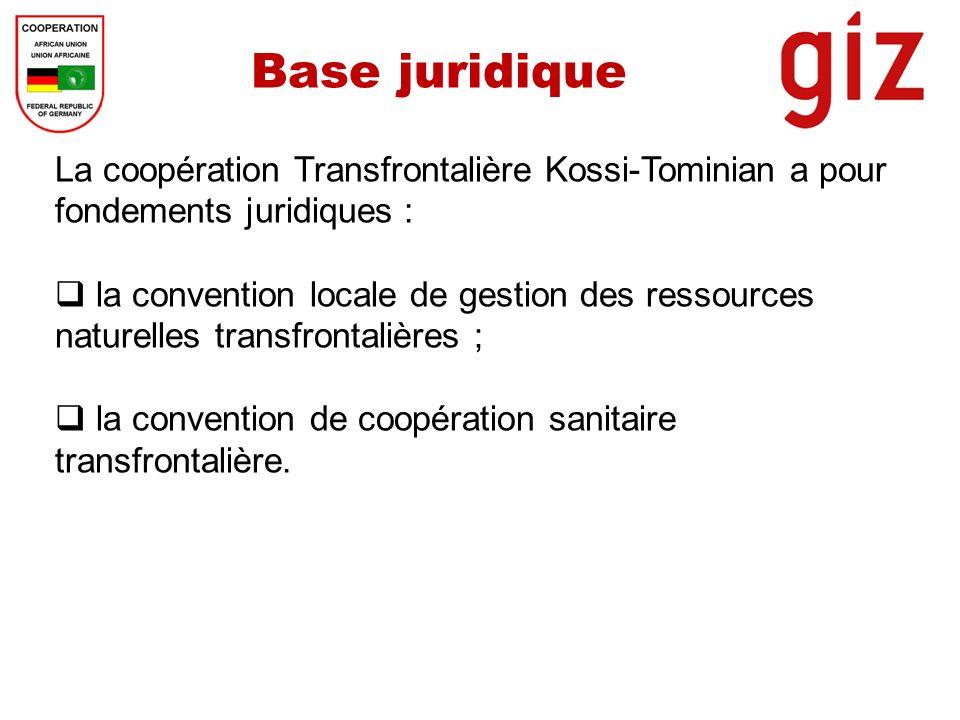 Base juridique La coopération Transfrontalière Kossi-Tominian a pour fondements juridiques :