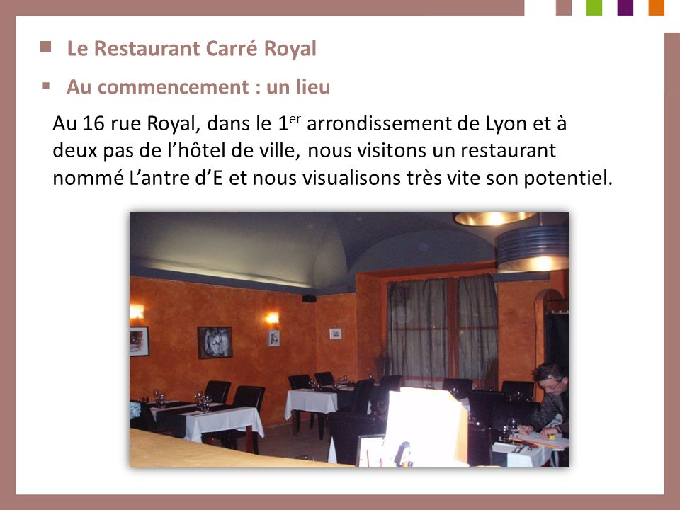 Le Restaurant Carré Royal