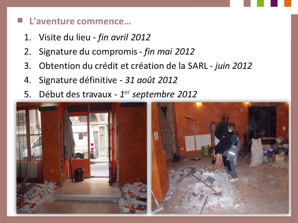 L aventure commence… Visite du lieu - fin avril 2012