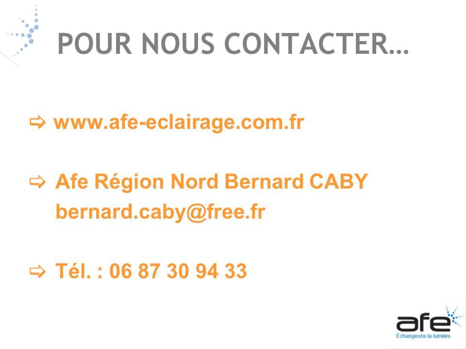 POUR NOUS CONTACTER…  www.afe-eclairage.com.fr