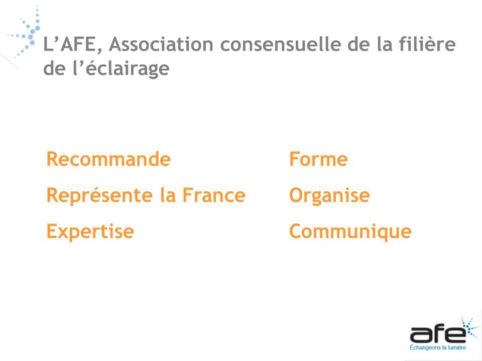 L'AFE, Association consensuelle de la filière de l'éclairage