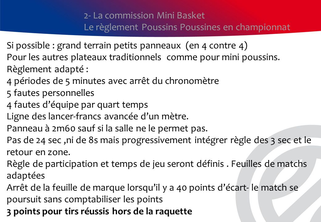 2- La commission Mini Basket