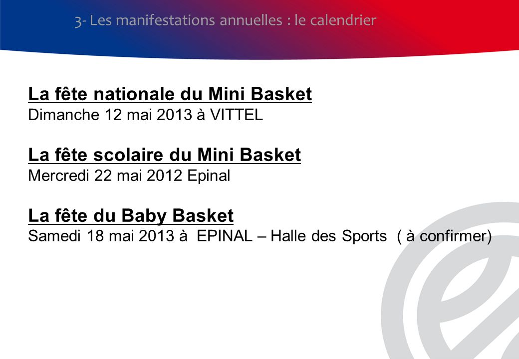 La fête nationale du Mini Basket