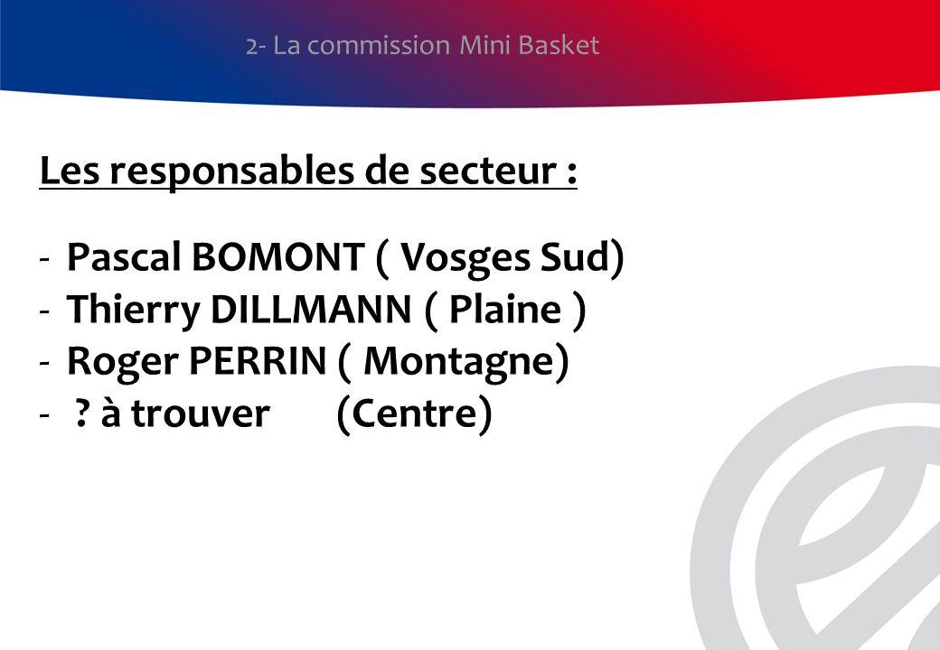 Les responsables de secteur : Pascal BOMONT ( Vosges Sud)