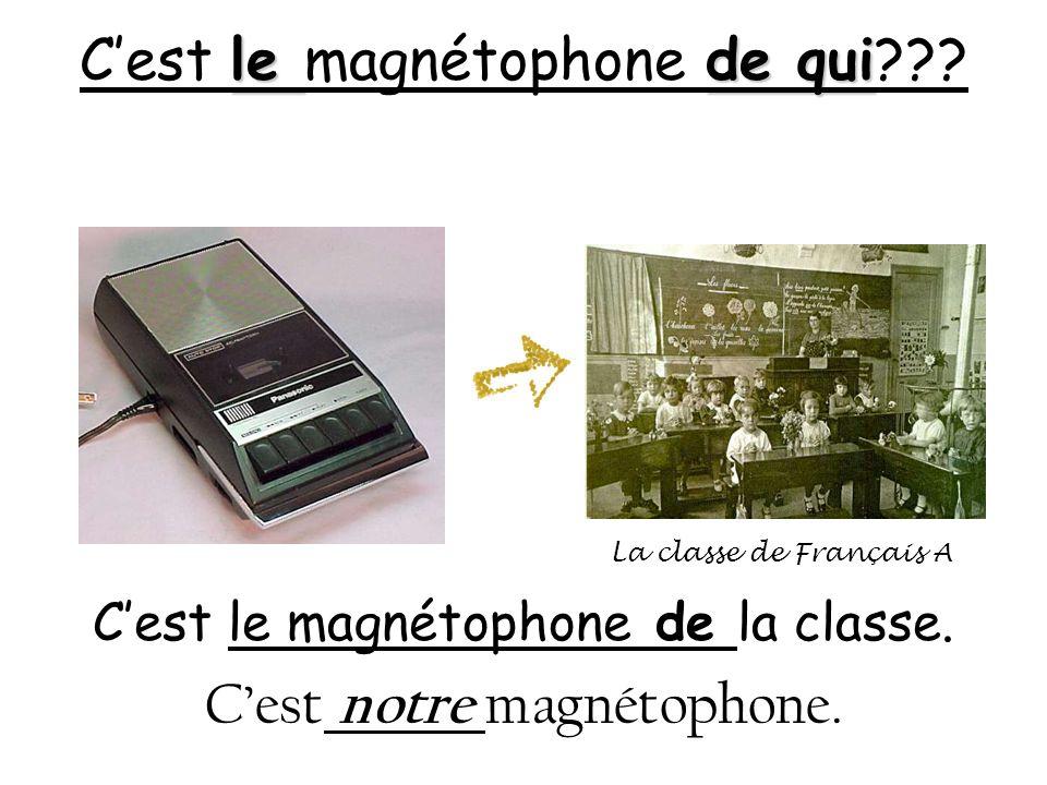 C'est le magnétophone de qui