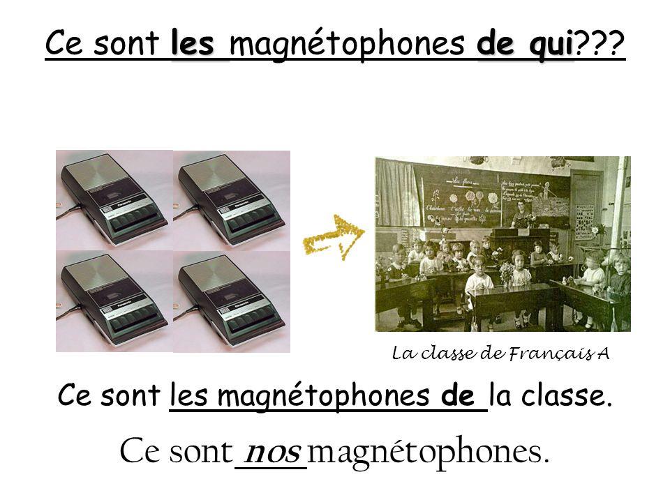 Ce sont les magnétophones de qui