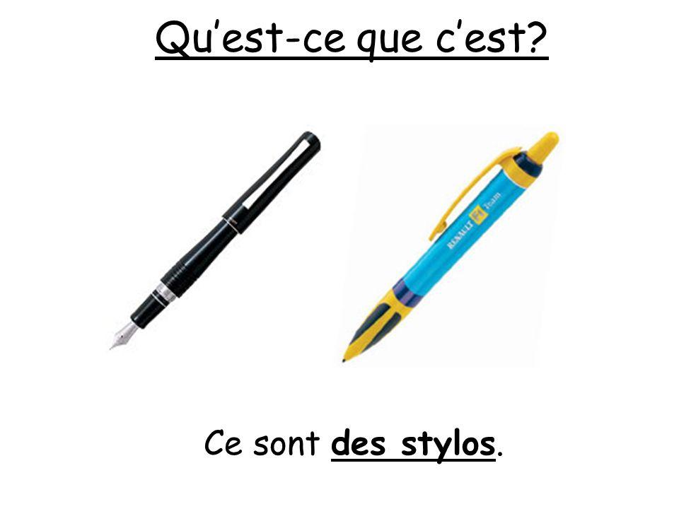 Qu'est-ce que c'est Ce sont des stylos.