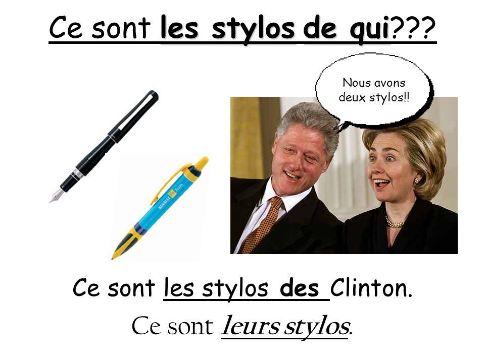 Ce sont les stylos de qui