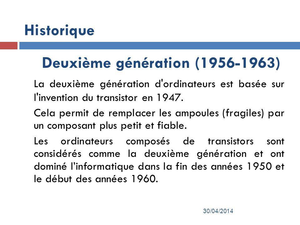 Deuxième génération (1956-1963)