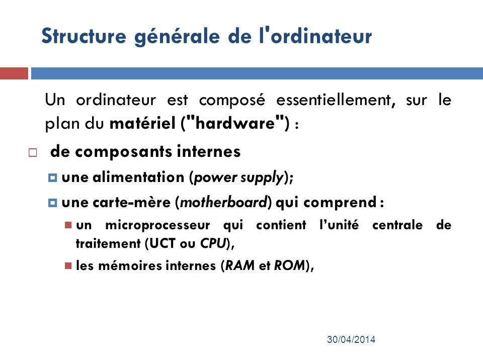 Structure générale de l ordinateur