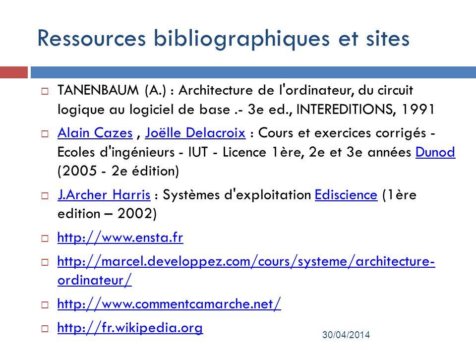 Ressources bibliographiques et sites