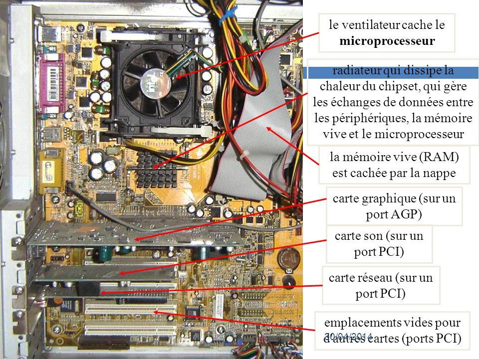 le ventilateur cache le microprocesseur