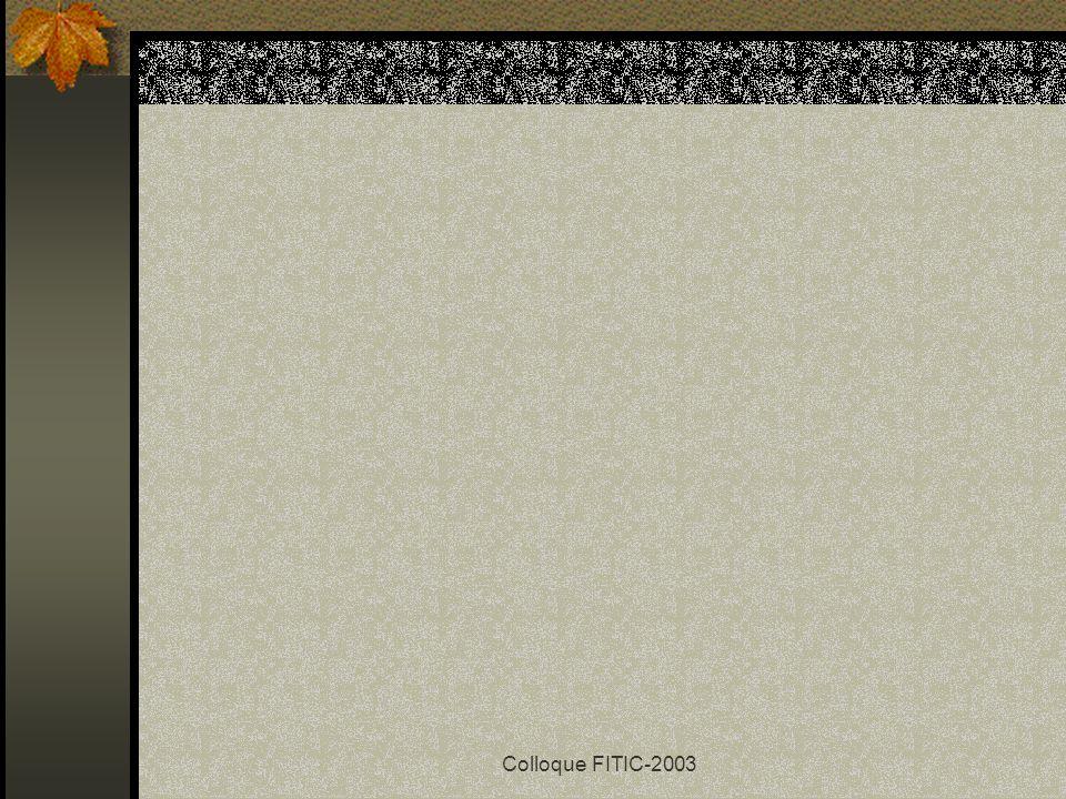 Colloque FITIC-2003