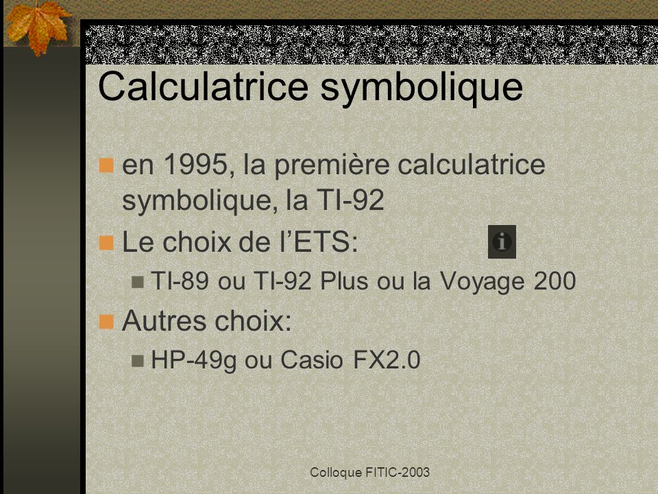 Calculatrice symbolique