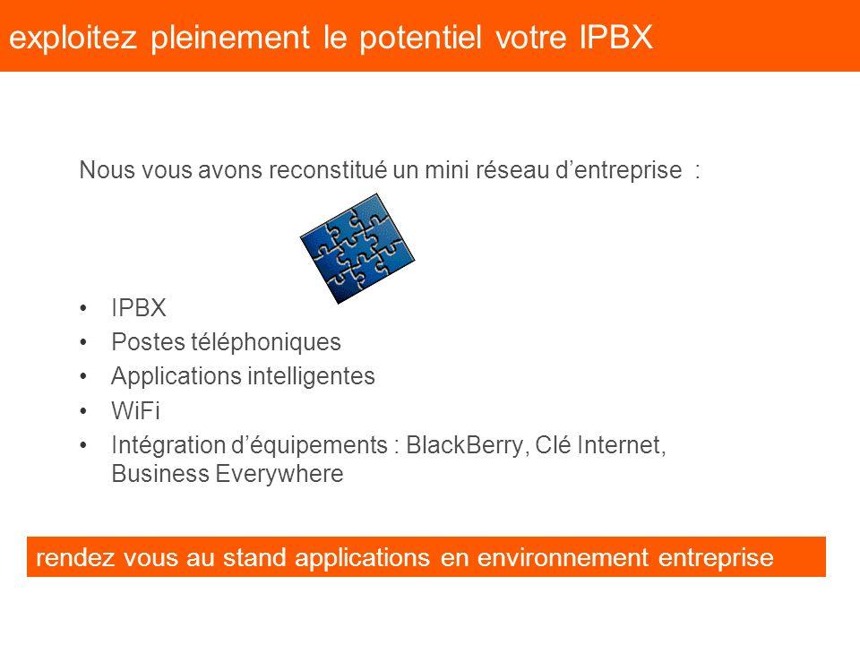 exploitez pleinement le potentiel votre IPBX