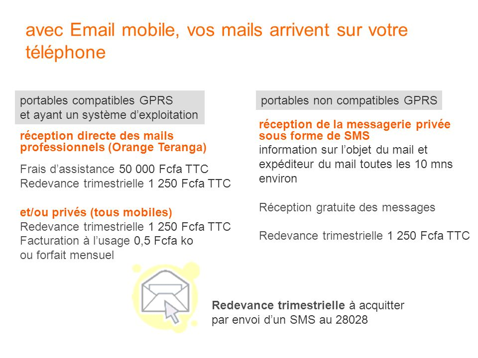 avec Email mobile, vos mails arrivent sur votre téléphone