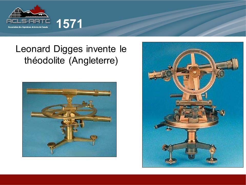 Leonard Digges invente le théodolite (Angleterre)