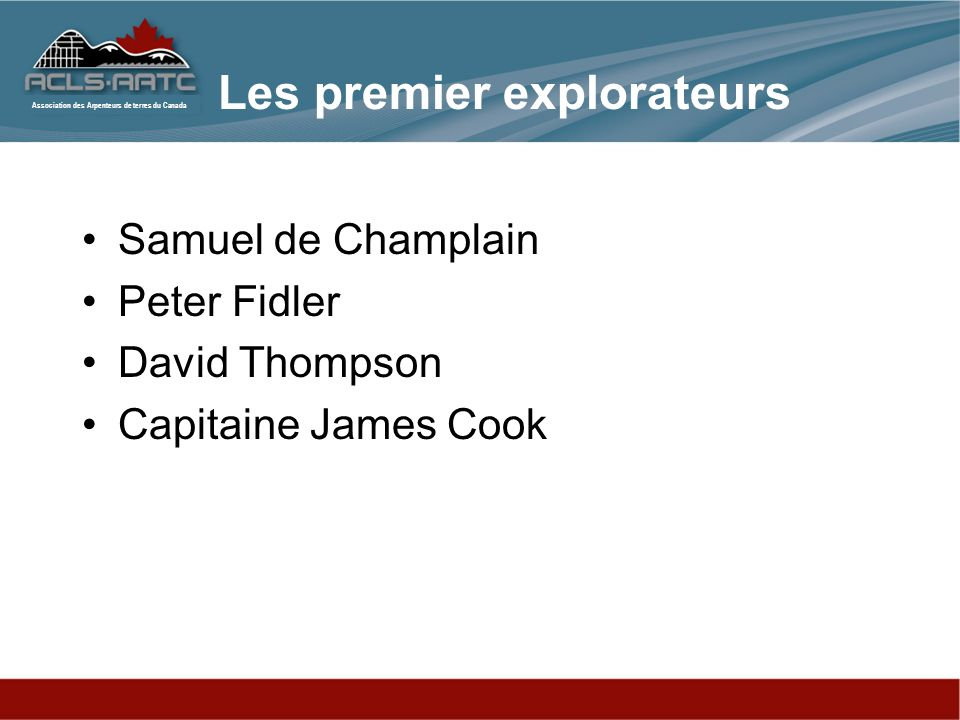 Les premier explorateurs